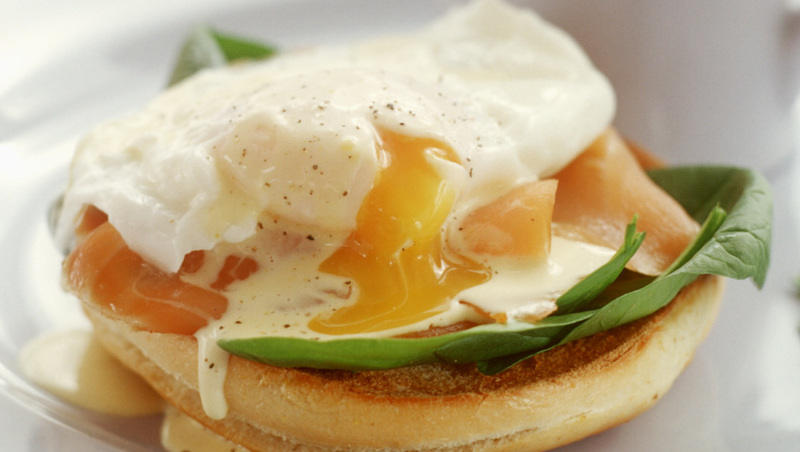 salmon poached egg sandwich